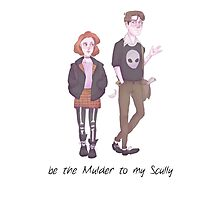 Scully & Mulder FanArt Photographic Print