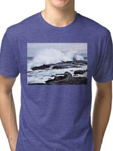 Ferocious Ocean -- Peggy's Cove, Nova Scotia Tri-blend T-Shirt
