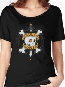 SKULLS AND BONES Women's Relaxed Fit T-Shirt