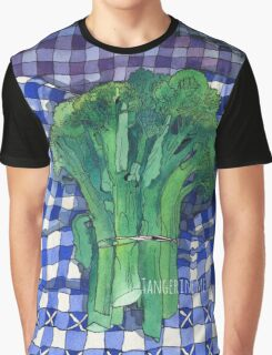 Broccoli and Gingham Graphic T-Shirt