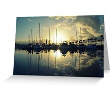 marina morning Greeting Card
