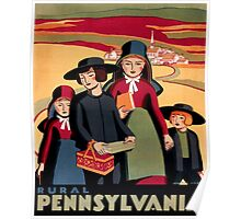 Rural Pennsylvania, Amish Children on a way to school Poster