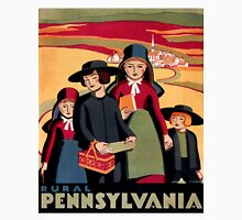 Rural Pennsylvania, Amish Children on a way to school Unisex T-Shirt