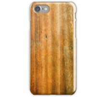 Dark Worn Wooden Chopping Board Texture iPhone Case/Skin