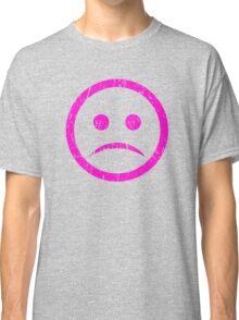 SAD face. Pink Classic T-Shirt