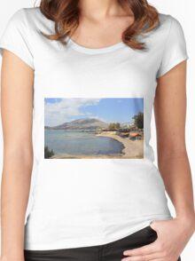 Idyllic Landscape Women's Fitted Scoop T-Shirt