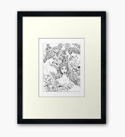 Garden Girls Framed Print
