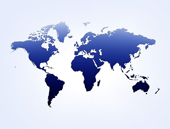 Blue & white  map by Olga Altunina