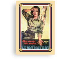 Vintage USA Army Nurse Corps 2 Canvas Print