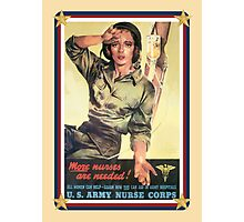 Vintage USA Army Nurse Corps 2 Photographic Print