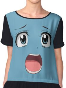 Anime face blue eyes Chiffon Top