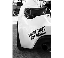 Smoke Tires Photographic Print