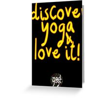Mad Yogi Tee # 4 Greeting Card
