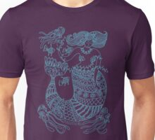 Mermaid and Friends - aqua print Unisex T-Shirt