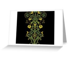 Flowers and Vines - Green Greeting Card