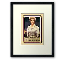 Vintage USA Army Nurse Corps Framed Print