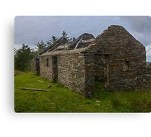 Stonework of a ruin Canvas Print