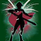Super Smash Bros. Green Male Corrin Silhouette by jewlecho