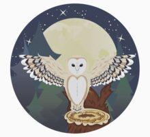 Barn Owl on a Tree Stump 4 One Piece - Long Sleeve
