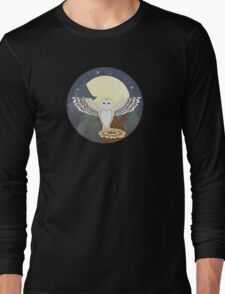 Barn Owl on a Tree Stump 4 Long Sleeve T-Shirt
