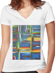 Nine Eight Mid Women's Fitted V-Neck T-Shirt