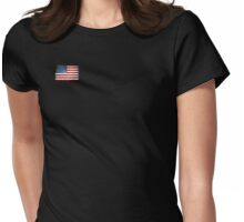 Grunge American flag Womens Fitted T-Shirt