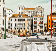 Venetian square with bridge Sticker