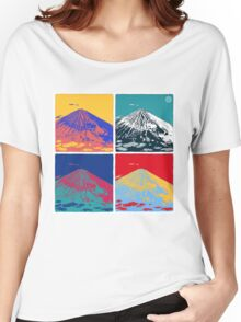 Mount Fuji Pop Art Women's Relaxed Fit T-Shirt