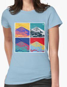 Mount Fuji Pop Art Womens Fitted T-Shirt