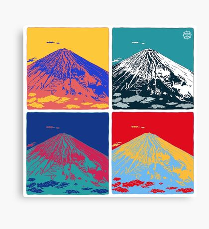Mount Fuji Pop Art Canvas Print