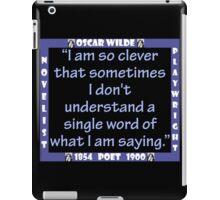 I Am So Clever - Wilde iPad Case/Skin