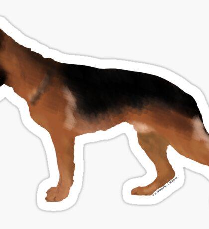 German Shepherd: Red & Black Sticker
