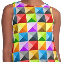 Colorful quarter square triangle pattern Contrast Tank