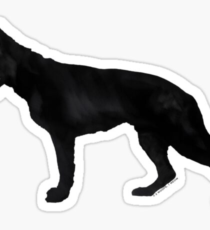 German Shepherd: Black Sticker