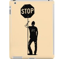 Retro Man With Stop Sign iPad Case/Skin