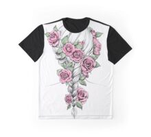 Rosy Braid Colored Graphic T-Shirt