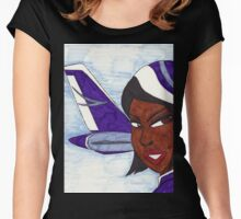 Lets Fly Together Women's Fitted Scoop T-Shirt