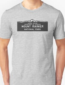 Mount Rainier National Park Sign, Washington, USA Unisex T-Shirt