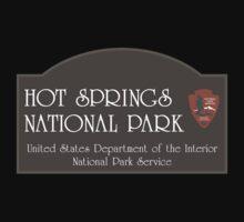 Hot Springs National Park Sign, Arkansas, USA One Piece - Short Sleeve