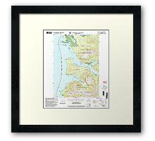 USGS TOPO Map Alaska AK Sitka B-2 359101 2000 63360 Framed Print