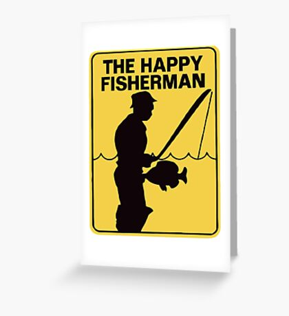 Funny fishing Greeting Card