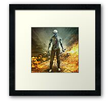 Crazy Scary Monster Apocalyptic Scene Framed Print