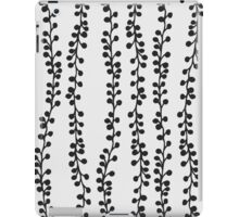 Black hand drawn branches on white - pattern iPad Case/Skin