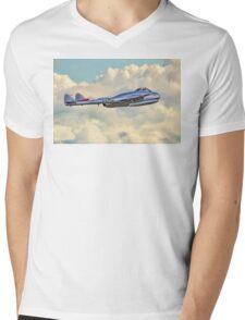 DH100 Vampire FB.6 PX-K LN-DHY Mens V-Neck T-Shirt