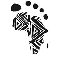 Africa Footprint Photographic Print