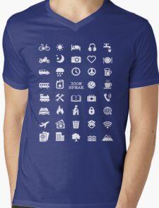 Travel Icon Speak Tshirt Mens V-Neck T-Shirt
