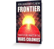Mars Colonization Propaganda Illustration Greeting Card