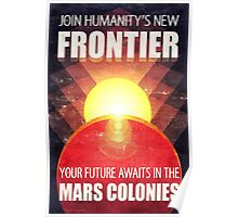 Mars Colonization Propaganda Illustration Poster