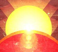 Mars Colonization Propaganda Illustration Sticker