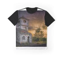Haunted house at dusk Graphic T-Shirt